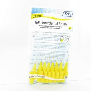 Tepe Interdental Brush Cyl. 0.70mm Yellow Fine 8 pieces