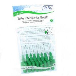 Tepe Brossettes Dentaires Vert 0.80mm 8 pièces