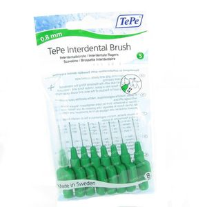 Tepe Interdental Brush Cyl. 0.80mm Green Medium 8 St