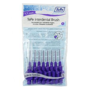 Tepe Interdental Brush Cyl. 1.10mm Paars Large 8 stuks