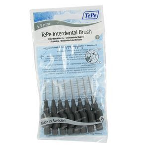 Tepe Interdental Brush Cyl. 1.30 mm Grey X-Large 8 pieces