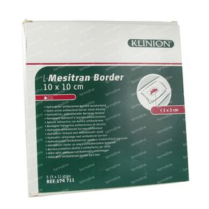 L - Mesitran Compress Border 10 x 10 Cm 5 pieces