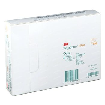 3M Tegaderm + Pad Transparant Filmverband Met Absorberend Kompres 9cmx15cm 25 stuks