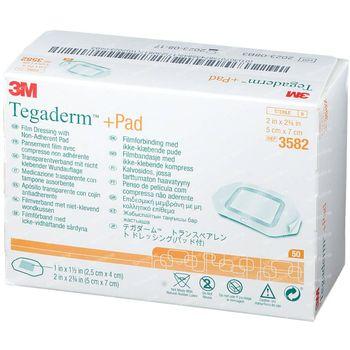 3M Tegaderm + Pad Pansement Transparent avec Compresse Absorbante 5cmx7cm 50 st