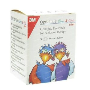 3M Opticlude Oogpleister Boys & Girls Mini 50mm x 60mm 30 stuks