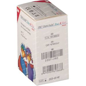 3M Opticlude Compresse Occulaire Boys & Girls Maxi 5,7cm X 8cm 2539PE 30 pièces