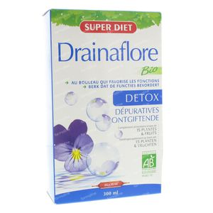 Super Diet Drainaflore Bio 300 ml ampoules