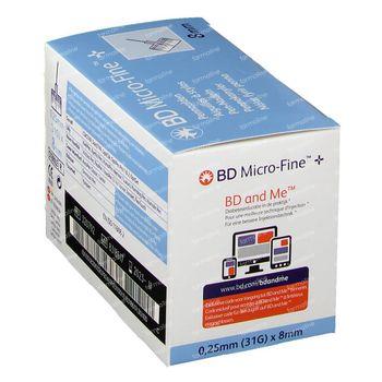 BD Microfine+ Pennaald 8mm 31g 100 st