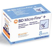 BD Microfine+ Pennaald 8mm 31g 100 stuks