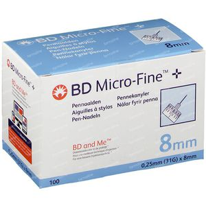 BD Microfine+ Pen Needle 8mm 31g 100 pieces