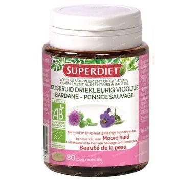 Superdiet Bardane - Pensée Sauvage Bio 80 comprimés