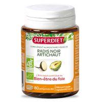 Superdiet Radis Noir - Artichaut Bio 80  comprimés