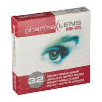 PharmaLens Tageslinsen (Dioptrie: -1.50) 32  kontaktlinsen