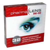 PharmaLens Tageslinsen (Dioptrie: +1.00) 32  kontaktlinsen