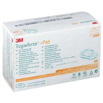 3M Tegaderm + Pad Transparant Filmverband met Absorberend Kompres 6cmx10cm 50 st
