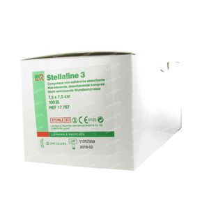 Stellaline 3 Sterile 7.5cm x 7.5cm 100 St compresse
