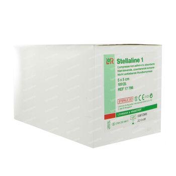 Stellaline 1 Sterile 5cm x 5cm 100 compresses