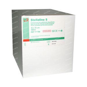 Lohmann & Rauscher Stellaline 5 Niet-Klevende Absorberende Kompressen Steriel 10x10cm 100 stuks