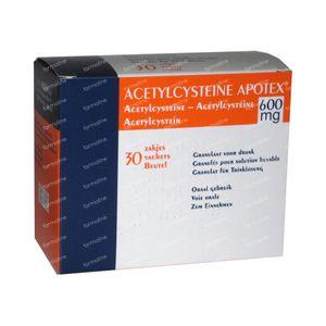 Acetylcysteïne Apotex 600mg 30 zakjes