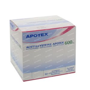Acetylcysteïne Apotex 600mg 60 bruistabletten