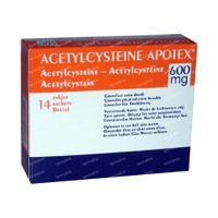 Acetylcysteïne Apotex 600mg 14  zakjes