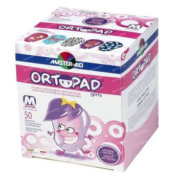 Ortopad For Girls Medium Oogpleister 2-5 Jaar 50 stuks