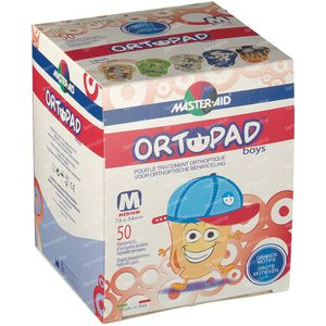 Ortopad For Boys Medium Eye Compres 2-5 Years 50 unidades