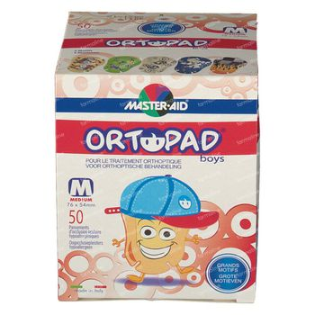Ortopad For Boys Medium Oogkompres 2-5 Jaar 50 stuks