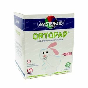 Ortopad Blanco Medio Parche Ocular 50 unidades