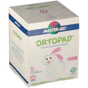Ortopad Blanc Medium Compresse Oculaire 50 pièces