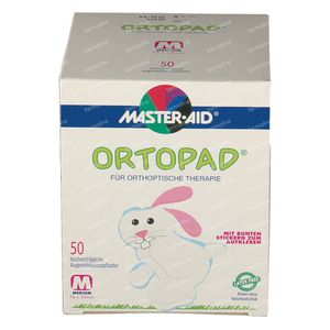 Ortopad White Medium Eye Compres 50 St