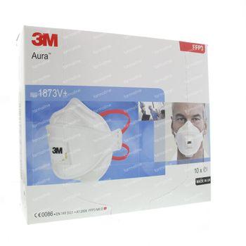 3M Aura Masue de Protection FFP3 1873V 10 pièces