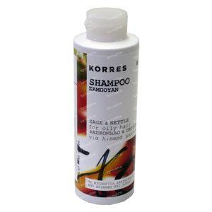 Korres Shampoo Vet Haar Salie & Netel 250 ml