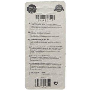 Vitry Pinzette Pocket Inox Schräge Enden 1016C 1 st