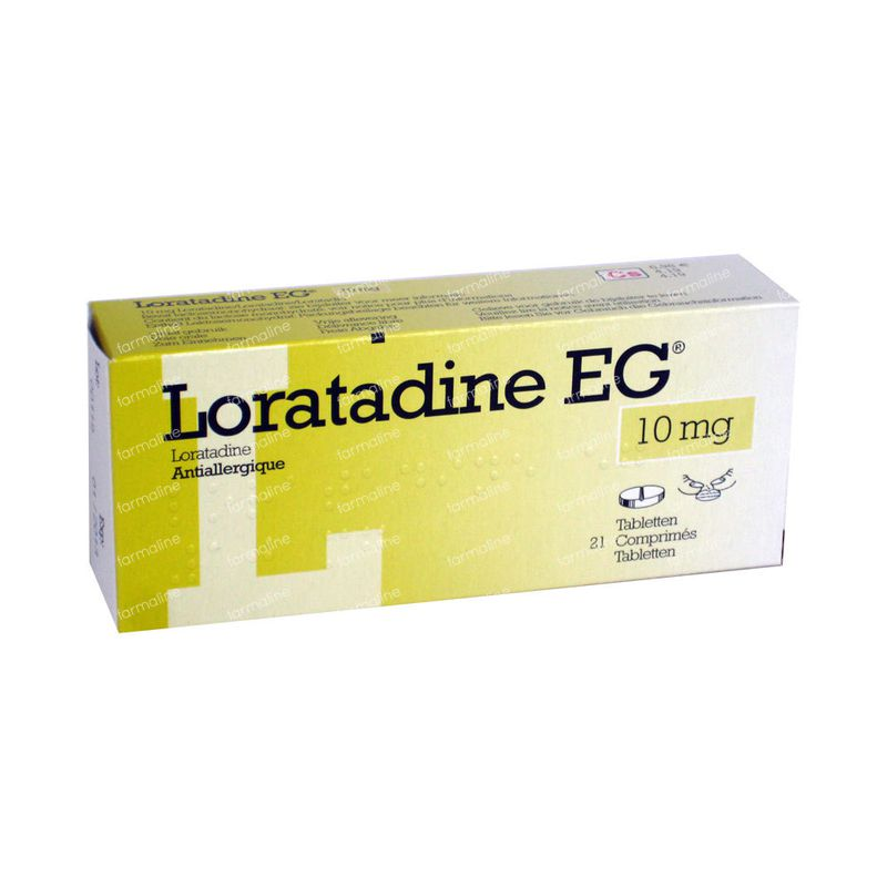 Loratadine EG 10mg 21 Comprimés Commander Ici En Ligne