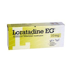 Loratadine EG 10mg 7 stuks Tabletten