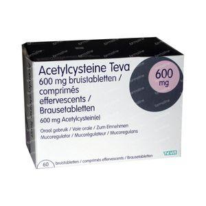 Acetylcysteïne Teva 600mg 60 bruistabletten