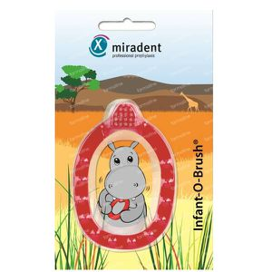 Miradent Infant-O-Brush Baby Toothbrush Red 1 pieza