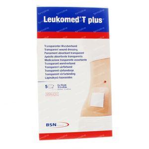 Leukomed T Plus Pansement Stérile 8,0Cmx15Cm 5 pièces