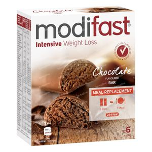 Modifast Snack&Meal Lunch Reep Chocolade 186 g