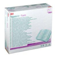 3M Tegaderm Foam Pansement Hydrocellulaire Non-adhésif 10cmx10cm 10 st