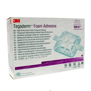 3M Tegaderm Foam Adhesive 8,8cm x 8,8cm 90610 10 st