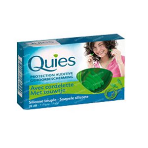 Quies Earplugs Silicone + Cord 1 paio