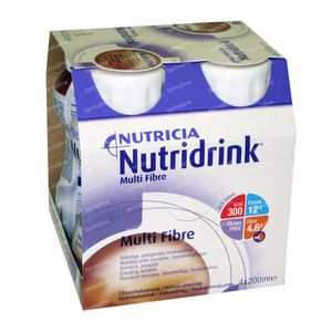 Nutridrink Multifibre Chocolate 4x200 ml