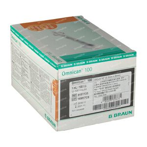 Braun Omnican 100  0,3 x 8Mm 100 pieces