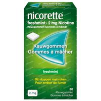 Nicorette® Freshmint Kauwgom 2mg - bij Stoppen met Roken 30  kauwgoms