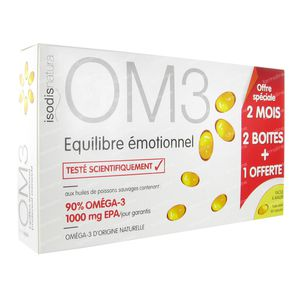 OM3 Equilibre Émotionnel (2+1 Offerte) 180  capsules