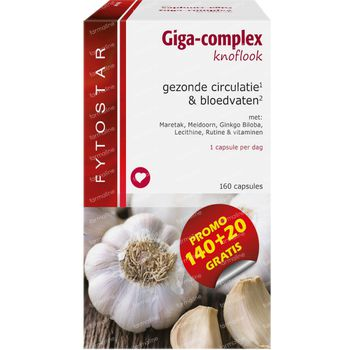 Fytostar Giga-Complex Knoflook 160 capsules