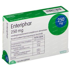 Enteriphar 250mg 20 capsules