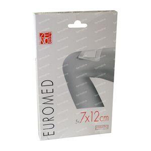 Euromed 7cm x 12cm Island Plaster Sterile 5 stuks